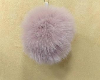 Real Fox fur pom pom,Bag pom pom,Fur keychain,Bag charm,Bag pendant,Purse charm,Furry key chain42 F626