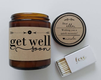 Get Well Gift Get Well Soon Candle Surgery Gift Recovery Gift Get Well Card Aromatherapy Candle Get Well Soon Gift Feel Better Soon