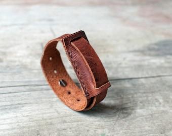 Handmade leather Fitbit Flex bracelet, simple fitbit flex band, handcrafted fitbit flex band bracelet, fitbit flex
