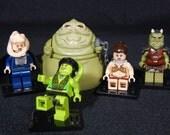 Star Wars Return of the Jedi Jabba Palace Set Of 5 Minifigures Leia Oola Bib Fortuna Gamorrean Guard Building Toy Building Block Toy