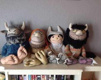 Where the Wild Things Are Vintage Plush Set 1980
