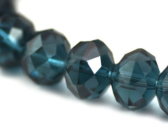 Chinese Crystal Extra Large Rondelle Transparent Steel Gray Blue  16x12mm