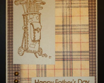 Golfing Father's Day Card