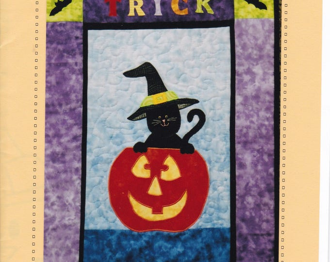 Free Us Ship HALLOWEEN Craft Sewing Pattern Sew Wonderful Dreams Trick or Treat Wall Hanging Quilt Cat Pumpkin Whimsey