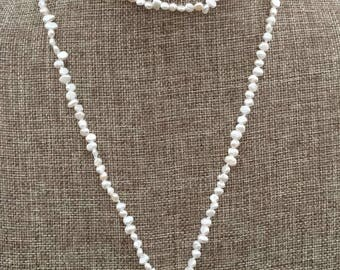 Freshwater Pearls Wrap Long Necklace