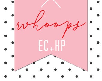 EC and HP Whoops Bag - 10 sheets of imperfect stickers