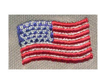 "1.25""W United States Flag - USA Flag - Embroidery Design - Instant Digital Download"