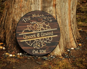 Personalized Bar Signs/ Wine Rack Custom Carved Bar Sign/Custom Wood Wine Gift/Custom Wine Sign/Custom Bar Signs/ Personalized Bar Sign Wine