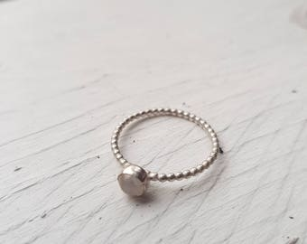 Moonstone Beaded Ring