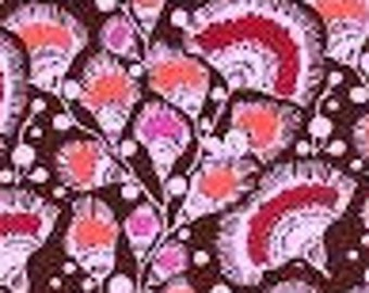 Amy Butler Bright Heart Feather Fans in Plum; 1/2 yard; woven cotton fabric