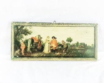 Vintage Dutch Farm Scene Picture On Pressed Wood Farm Scene On Pressed Wood Farmers On Land