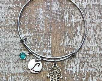 20%OFF Summer Sale-- hamsa bracelet - hamsa - evil eye bracelet - protection bracelet - hamsa jewelry - hamsa charm - hand bracelet