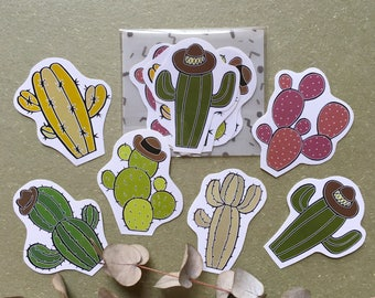 Baby Cactus Sticker Pack (6 in one pack)