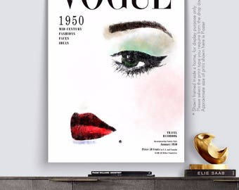 VOGUE 1950's Marilyn Cover Retro - Art Print Poster Canvas