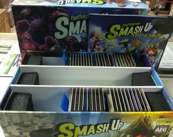 Smash Up Card Game Lot Big Geeky Box + Expansions Core Set Monster Smash Science Fiction Pretty Munchkin Obligatory Cthulhu Awesome 9000