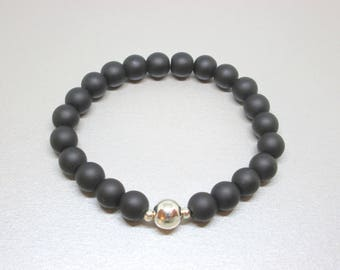 Black agate, inner strength, calming, power stone bracelet  that brings courage, resilience, calmness and good fortune, protection stone