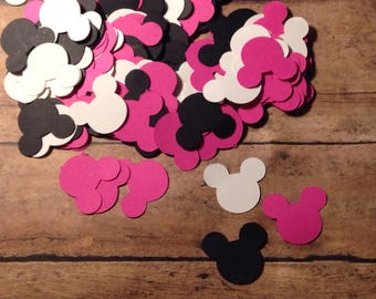 Minnie Mouse confetti, birthday confetti, party confetti, Minnie Mouse birthday supplies, Minnie Mouse birthday decorations, confetti, 120ct