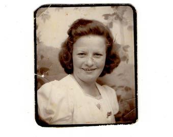 Vintage woman photobooth photo