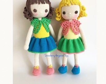 Amigurumi Crochet Doll Pattern - Mysia - almost seamless (English ONLY)