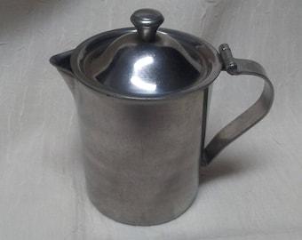 VOLLRATH RESTAURANT CREAMER,Stainless steel,Hinged lid,Vollrath6811,Vintage Creamer, Restaurant ware,usa made