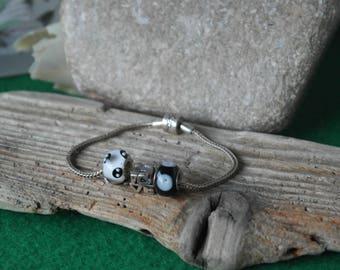 Vintage sterling silver Designer Rhona Sutton 3 Charm Bracelet 925