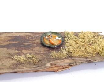 Butterflies feeding on sugar and orange slice - dollshouse miniature food