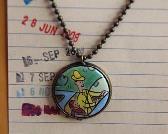 Curious George NECKLACE, Margret and H.A. Rey, The Man in the Yellow Hat