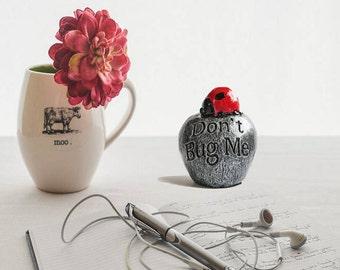 Ladybug decor - Cubicle decor - Ladybug gifts - Desk decor - Ladybug decorations - Fairy garden decor - Fairy garden accessories - Gifts