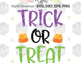 Trick or Treat svg, Halloween Svg, Candy bag svg, Halloween Candy svg, Fall svg, INSTANT DOWNLOAD for cutting machines - svg, png, dxf, eps