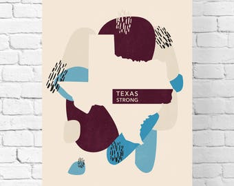Texas State Gift - Nursery Wall Art - Texas Wall Art - Minimalist Poster  - Rustic Decor – Posters – Wall Hanging - Texas Gifts for Her