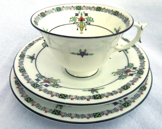 Royal Worcester Tea Cup, Saucer & Side Plate, English Porcelain Tea Trio, Immaculate Condition, Dates to 1921, Almost 100 years old!