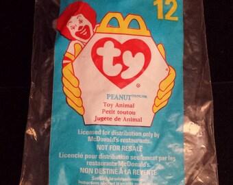 McDonald's TY Teeny Beanie Baby, Peanut the Elephant, NEW & SEALED
