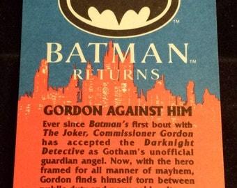 "Vintage 1992 Topps Batman Returns Trading Card, ""Gordon Against Him"" #56"