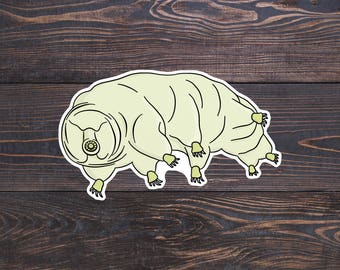 Tardigrade Sticker, Science Laptop Decal, Biology Stickers, Science Gift, Biology Gifts, Microbiology, Waterbear, Water Bear, Moss Piglet