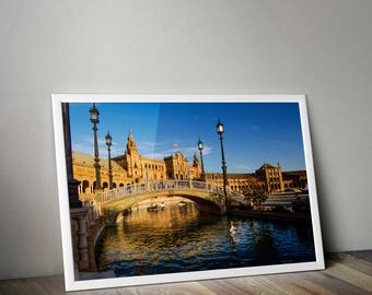 Plaza de Espana, Seville Photography, Seville, Seville Spain, Seville Print, Spain Photo, Travel Photography, Europe Photo, Architecture