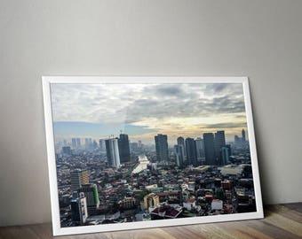 Makati, Philippines, Manila, Manila Philippines, Travel Photography, Manila Print, Manila Photography, Manila Print, Travel Print, Skyline