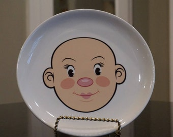 Fred Plate/Plays With His Food Fred/ Novelty Plate/ Fred Plays with His Food by Jason Amendolara/ 8.5 inch Plate Boys Face