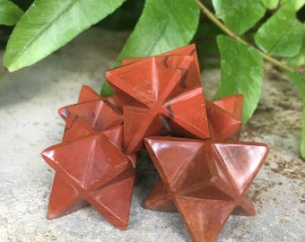 Red Jasper Crystal Merkaba Star- One Chosen Randomly With Love