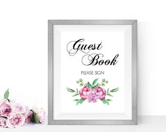 Guest book sign, Please sign our guestbook, PRINTABLE Wedding signs, Guest book sign in, Guest book wedding, Wedding guest book sign