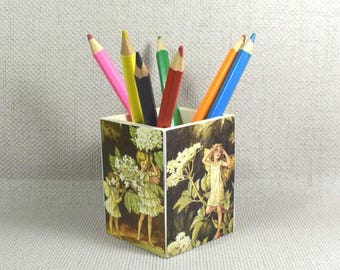 Fairy Pencil Pot, Tree Fairies, Make Up Pot, Fairy Gift, Fairy Fans, Gift for Girls, Pencil Holder, Stocking Filler, Free Gift Wrapping!