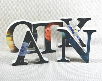 Planet Nursery Letters, Personalised Letters, Solar System Gift, Boy's Room, Space Letters, Nursery Name Letters, Free Gift Wrapping!