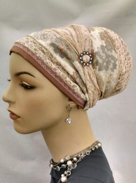 Stunning lace and cotton sinar tichel, tichels, chemo scarves, head scarf
