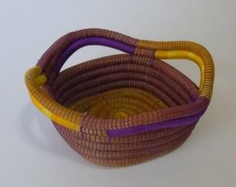Woven Basket, Hand-woven Basket, Home Decor,Rustic Basket,Home Decoration,Home Art,Pine Bowl,Bowl,Rustic Bowl,Weaved Basket