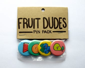 Fruit Dudes Pin Pack