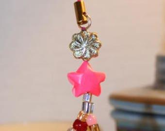 Origami Heart Stars Bow Cell Phone Purse Charm