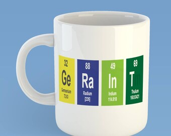 Periodic Table Mug, Chemical Element Mug, It's Chemistry Mug, Personalised Science Mug, Gift for Geek, Gift for Chemists, Gifts for Students