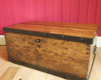 Vintage Industrial Chest Coffee Table TV Stand