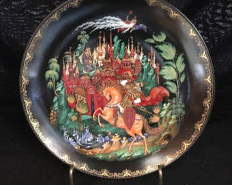 "Beautiful Bradex ""Ruslan & Ludmilla"" Plate, the First Plate in the Russian Legends Collection.    (NB-266)"