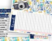 Adventure Awaits Notes Pages Kit - Planner Stickers