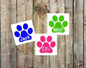 Pet decal | Dog decal | Cat decal | Paw print decal | Pet vinyl decal | Pet car decal | Pet sticker
